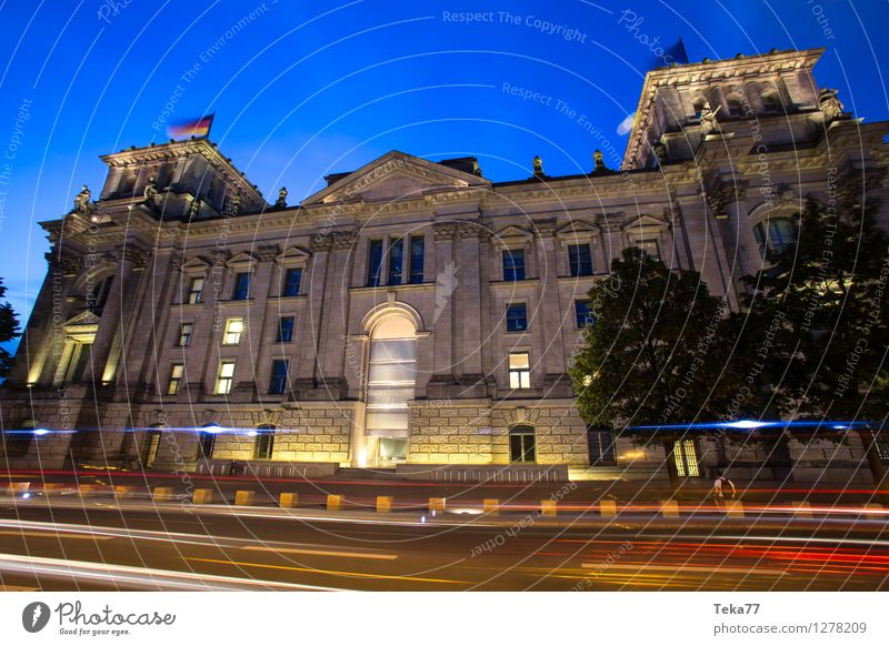 Bundestag I Vacation & Travel Human being Museum Town Capital city Dome Facade Tourist Attraction Reichstag Might Services Colour photo Exterior shot Evening
