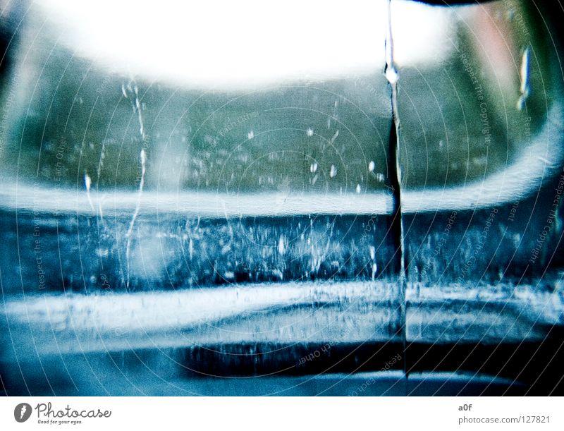 Blue Water Ice Glass Seasons Frozen Transparent Bottle Express train