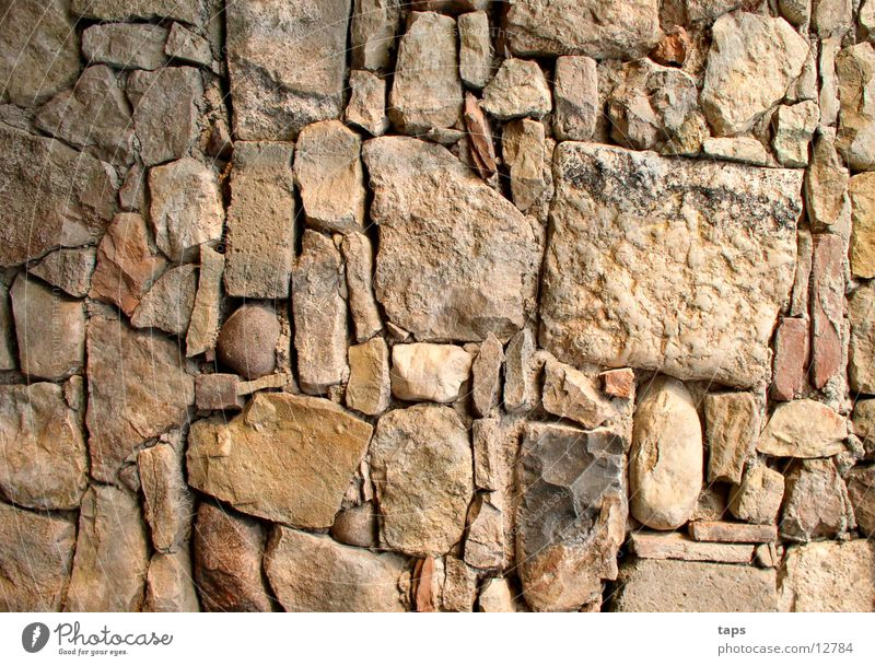 Rustic wall Wall (barrier) Building Wall (building) Country house Background picture Architecture Stone