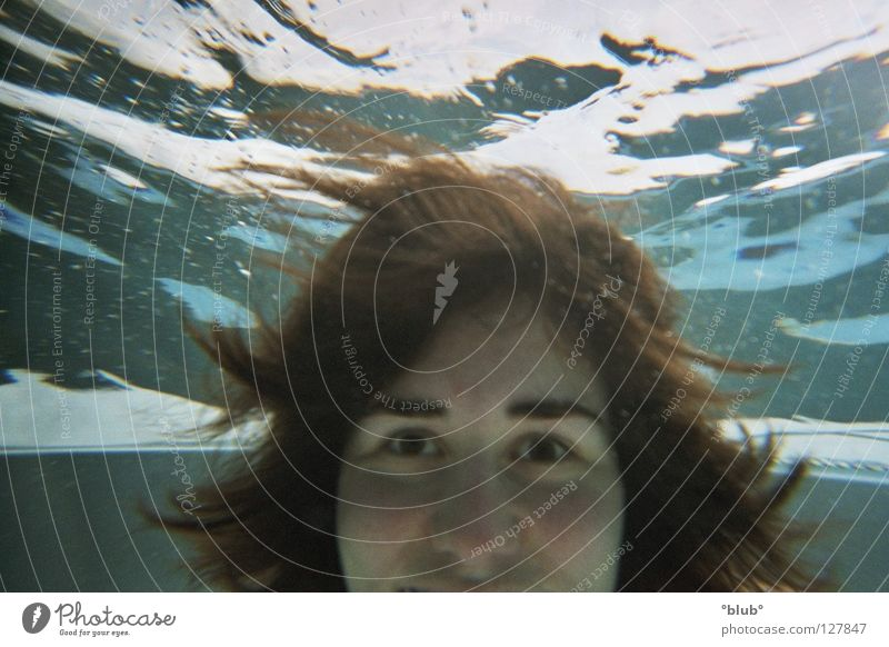 cuckoo Underwater photo Light Joy Head Laughter flying hair Cuckoo grin