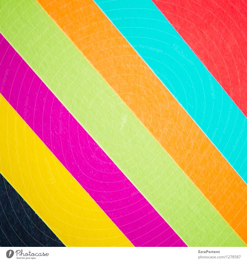 bgpgotr Elegant Style Design Leisure and hobbies Playing Handicraft Sign Line Stripe Esthetic Hip & trendy Blue Multicoloured Yellow Green Orange Pink Red Black