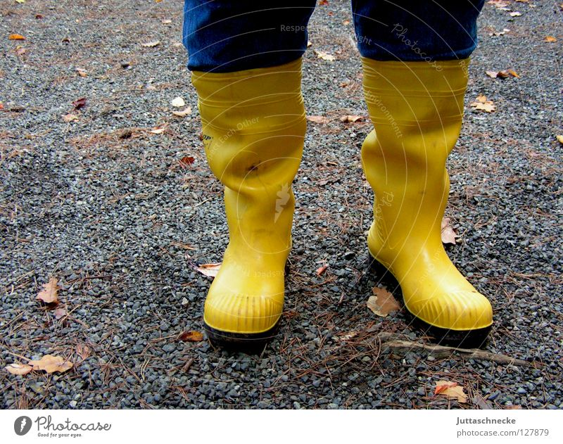 Water Yellow Colour Feet Rain Weather Wet Clothing Safety Happiness In pairs Protection Boots Quality Rubber boots April