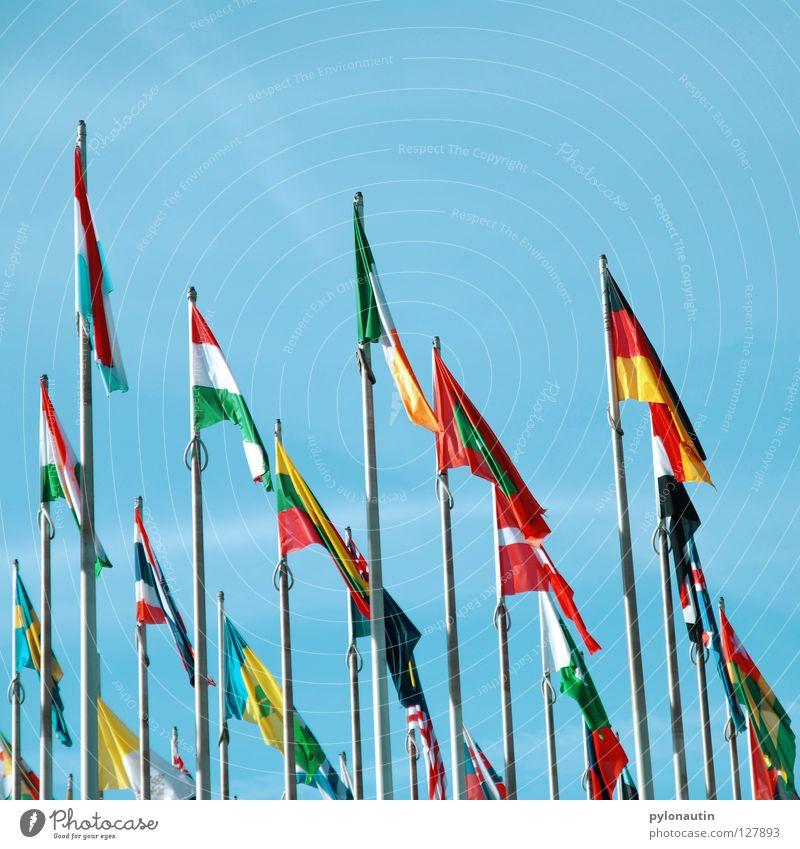 Sky Blue Vacation & Travel Clouds Earth Wind Europe USA Flag Africa Asia Meeting Americas Trade fair Leipzig Australia