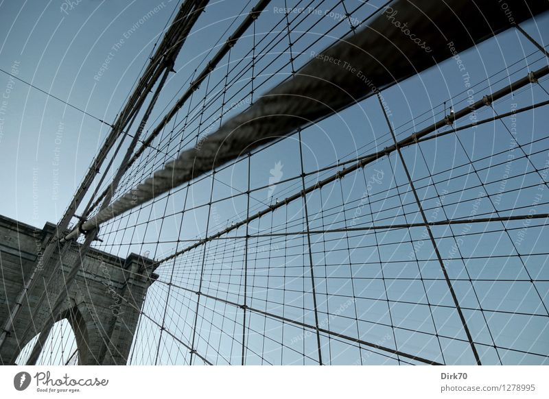 City Summer Dark Stone Line Design Tourism Transport Esthetic Threat Bridge Beautiful weather Rope Historic Network