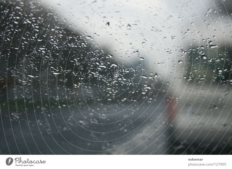 City Winter Street Autumn Gray Sadness Car Rain Wait Glass Weather Drops of water Transport Gloomy Driving Mobility