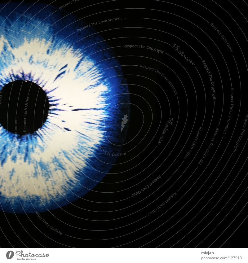 Blue Black Eyes Dark Circle Round Uniqueness Mysterious Concentrate Media Hollow Geometry Musculature Graphic Senses Blind