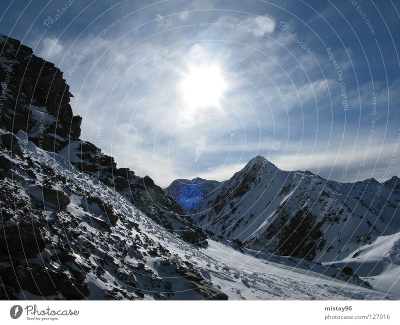 rocky mountains :) Sky Winter Mountain Beautiful sun alps Joy Freedom Nature
