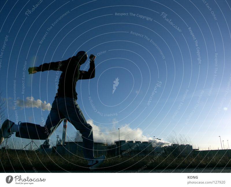 Sky Joy Sports Jump Movement Walking Beginning Running Speed Industrial Photography Target Forwards Smoke Dynamics Athletic Past