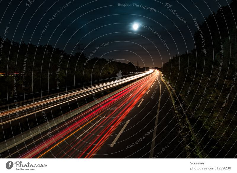 To the moon.... Landscape Sky Clouds Night sky Moon Summer Tree Transport Traffic infrastructure Passenger traffic Road traffic Motoring Street Lanes & trails