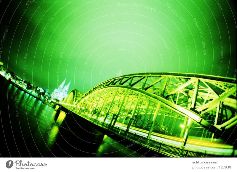 cologne lime Cologne Green Tracer path Bridge Dome Rider Dynamics Lomography flash psychedelic