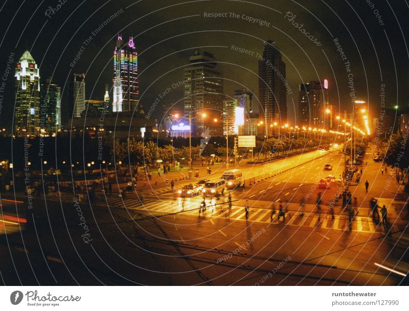 City Architecture Warmth Group Lamp Bright Fear Trip High-rise Transport Physics Night Asia Highway Skyline China
