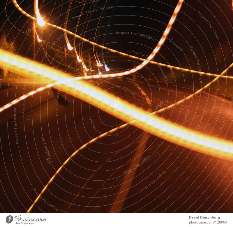 Sky Water Red Black Yellow Street Dark Car Lamp Bright Stars Free Transport Bridge Star (Symbol) Stripe