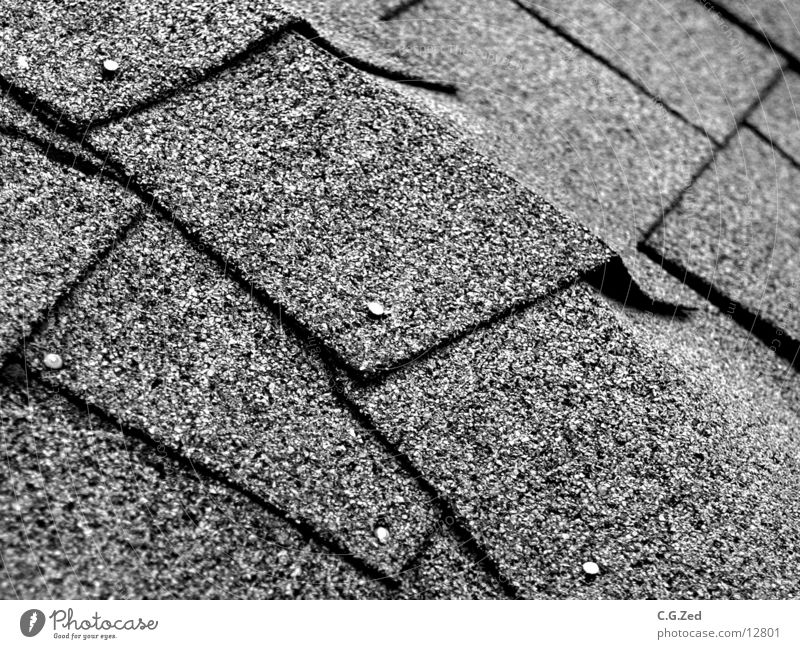roofing Tar paper Roofing tile Nail Architecture Black & white photo