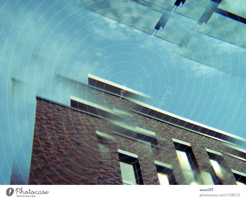 City High-rise Modern Roof Story Surrealism Strange Double exposure Smog Penthouse Prism Canopy