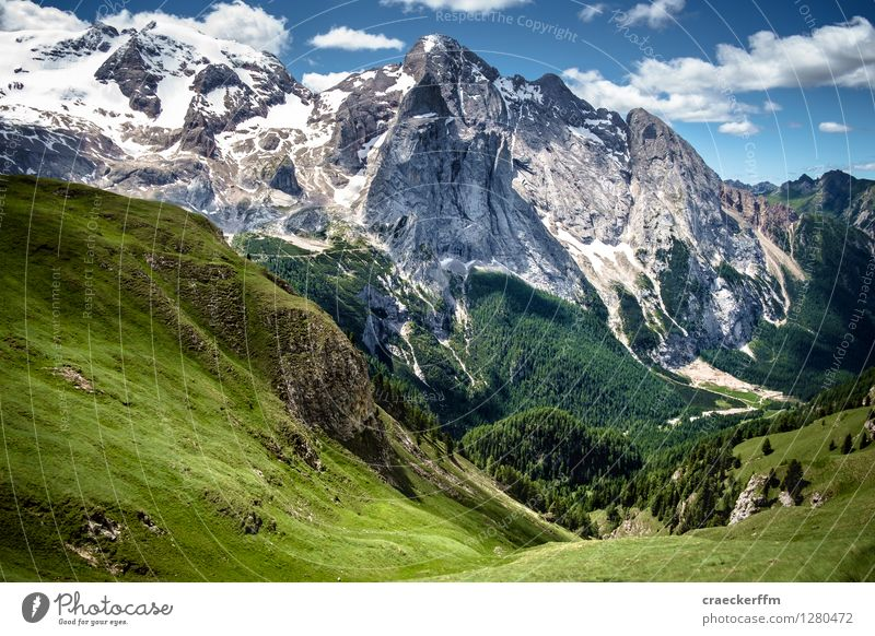 Dolomites IV Vacation & Travel Tourism Far-off places Freedom Summer Sun Mountain Hiking Climbing Mountaineering Landscape Clouds Beautiful weather Alps Peak