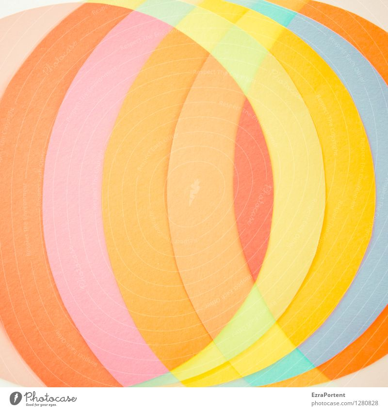 ( ) Elegant Style Design Handicraft Sign Line Esthetic Round Blue Multicoloured Yellow Orange Pink Red Turquoise Colour Illustration Structures and shapes