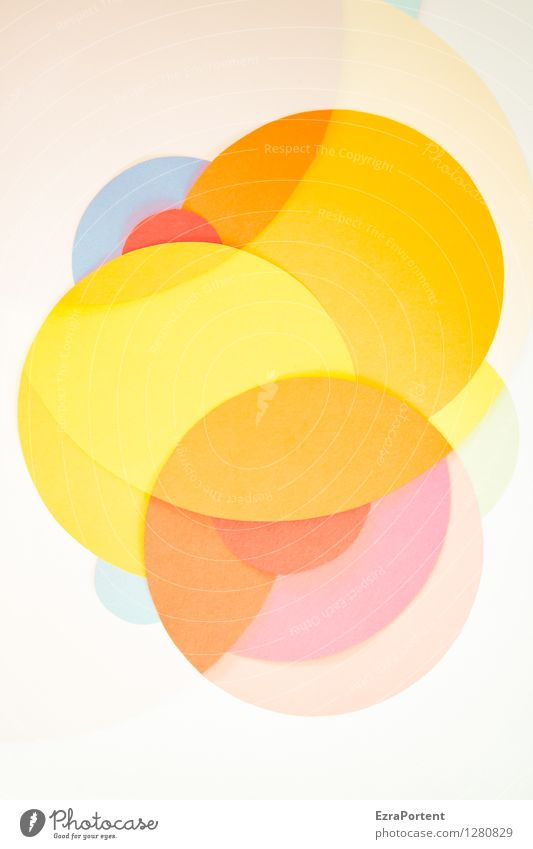 Blue Colour White Red Joy Yellow Style Background picture Line Bright Orange Design Elegant Happiness Esthetic Circle