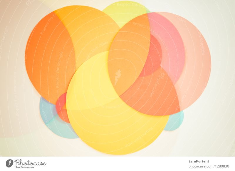 bubble's Elegant Style Design Playing Handicraft Sign Sphere Line Esthetic Bright Round Blue Multicoloured Yellow Orange Pink Red White Colour Inspiration