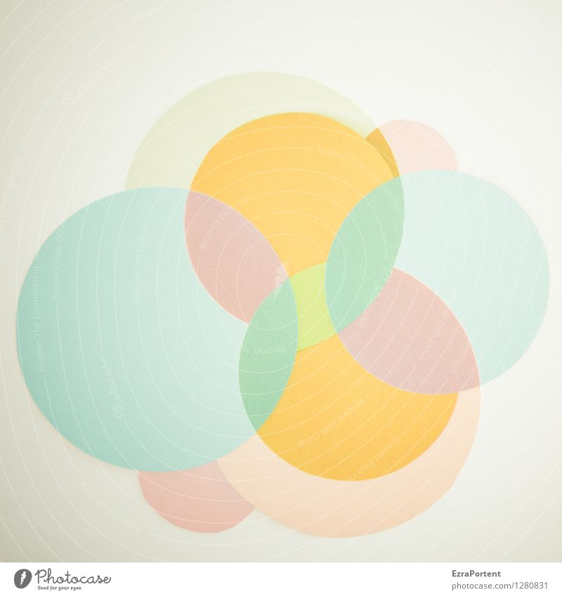 Blue Colour White Yellow Style Background picture Bright Orange Design Elegant Happiness Esthetic Circle Sign Round Illustration