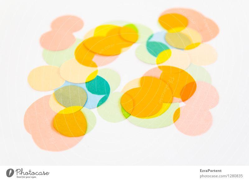bubble's Elegant Style Design Playing Handicraft Sign Sphere Esthetic Bright Round Blue Multicoloured Yellow Orange White Colour Illustration Many Advertising