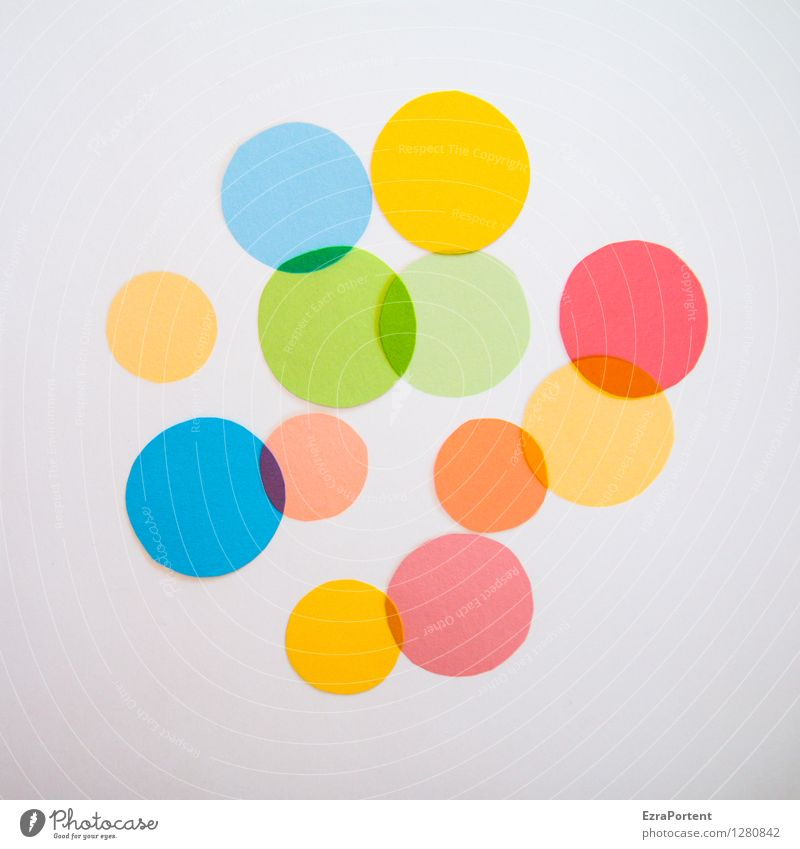 Blue Green Colour White Red Yellow Style Background picture Playing Bright Design Orange Elegant Esthetic Circle Sign