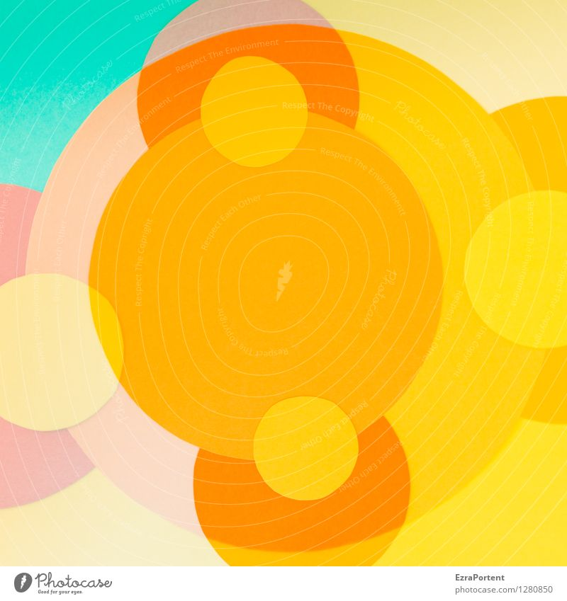 Blue Colour Red Joy Yellow Style Background picture Line Bright Design Elegant Esthetic Circle Sign Round Illustration