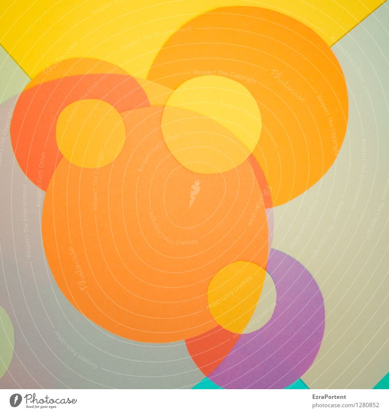 Colour Yellow Style Playing Gray Line Design Orange Elegant Esthetic Circle Sign Round Illustration Point Many