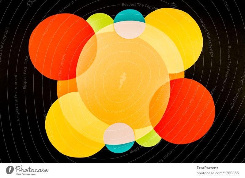 Why am I so cheerful? Elegant Style Design Handicraft Art Sign Esthetic Round Blue Multicoloured Yellow Green Orange Red Black Turquoise Joy Happiness Colour