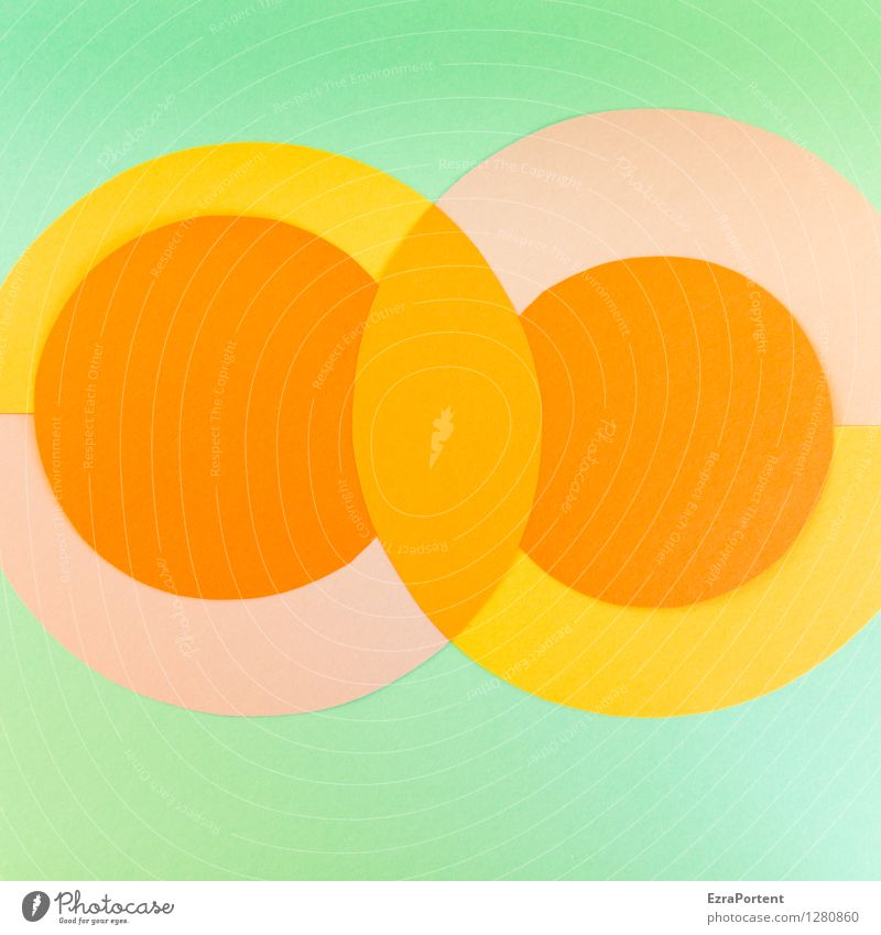 Green Colour Yellow Style Background picture Line Design Orange Elegant Esthetic Circle Sign Round Illustration Point Graphic