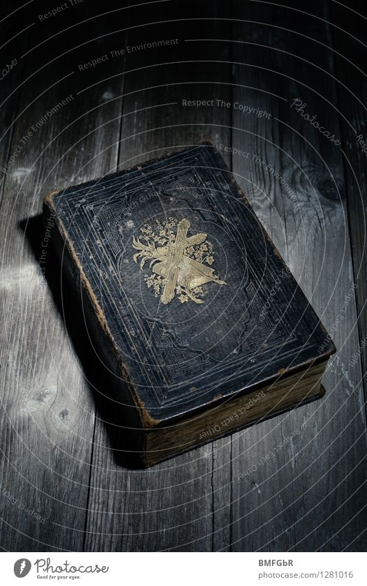 The Bible Hallowe'en Book Dark Creepy Retro Black Power Dedication Truth Authentic Integrity Fairness Hope Belief Humble Religion and faith Fantasy literature