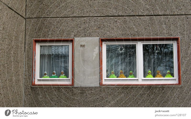 Far-off places Window Yellow Funny Building Small 2 Facade Dream Living or residing Decoration Glass Infancy Concrete Corner Idea