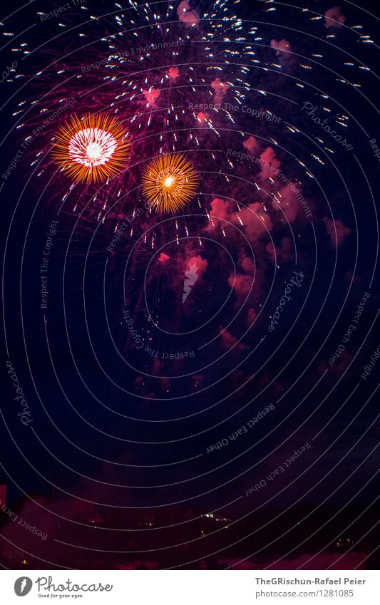 No. 200 Event Violet Orange Pink Red Black Firecracker Moody Feasts & Celebrations Explosion Explosive Art Pyrotechnics National Day august 1st Switzerland