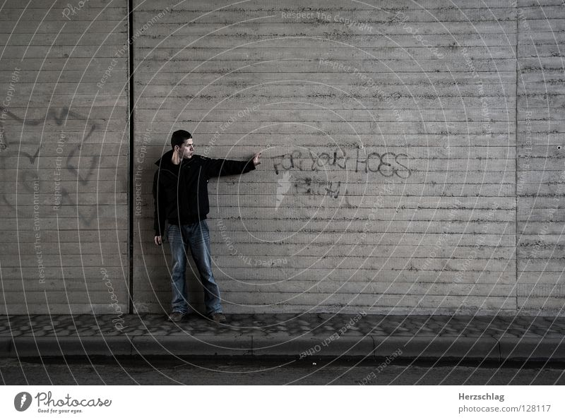 Loneliness Wall (building) Lanes & trails Graffiti Power Arm Going Force Characters