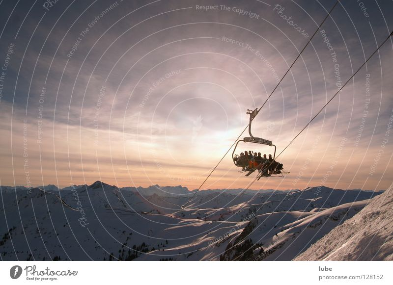 Winter Mountain Skiing Skier Winter sports Chair lift Ski lift