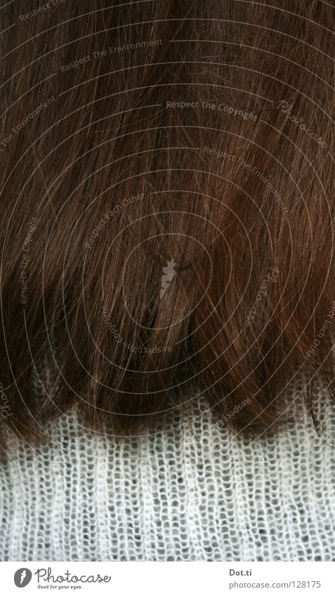 Human being White Adults Feminine Hair and hairstyles Brown Open Natural Soft Long Brunette Long-haired Section of image Partially visible Haircut Dark-haired
