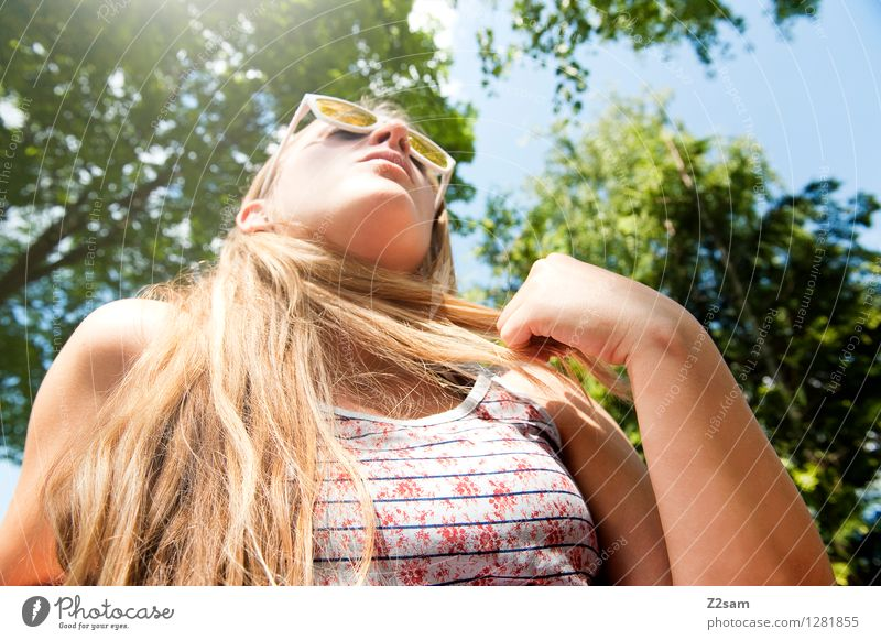 Summer in the city Lifestyle Elegant Style Leisure and hobbies Vacation & Travel Trip Cycling tour Summer vacation Feminine Young woman Youth (Young adults)