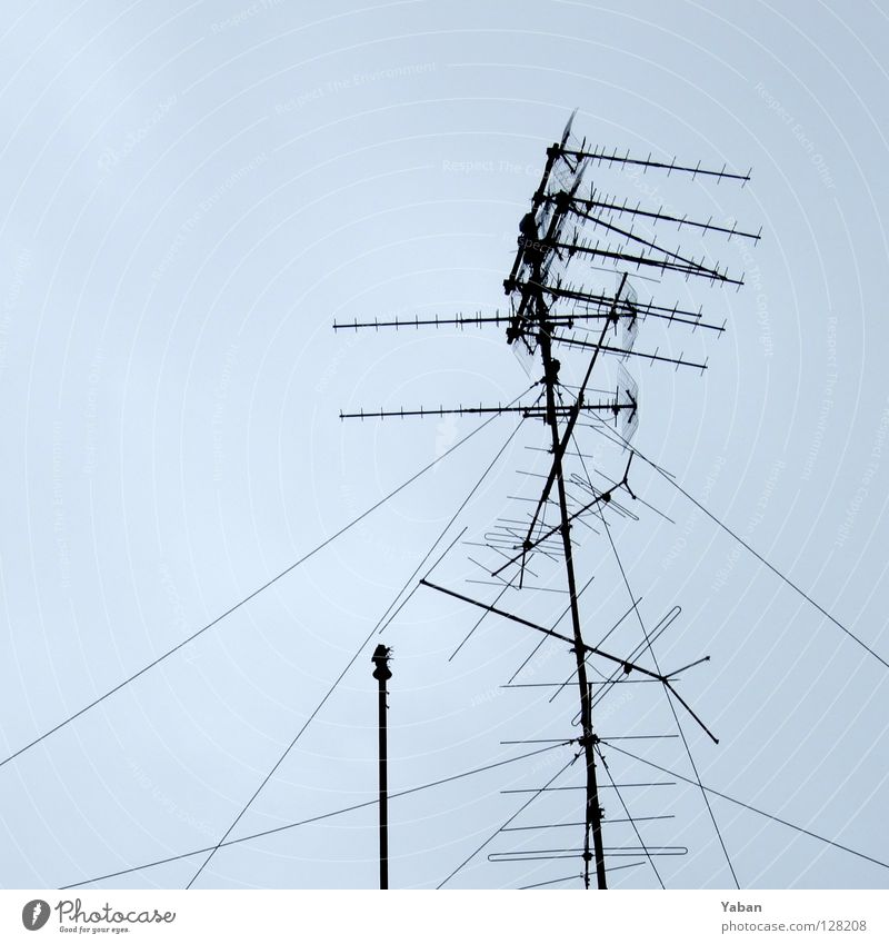 Television Contact Historic Boredom Radio (broadcasting) Antenna Signal Archaic Gray clouds Digital television Roof antenna