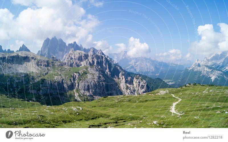 Dolomites Vacation & Travel Tourism Trip Mountain Hiking Environment Nature Landscape Elements Sun Summer Beautiful weather Rock Alps Cadini Group Peak
