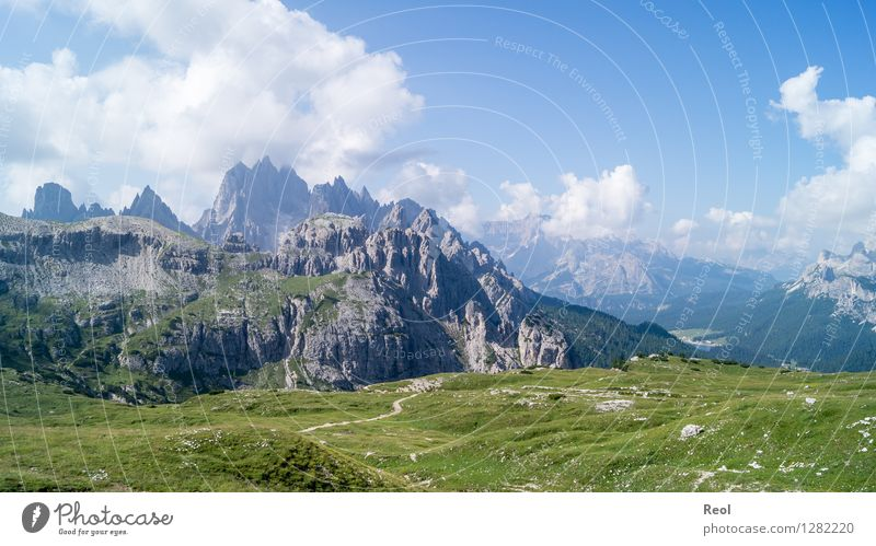 Dolomites II Vacation & Travel Tourism Mountain Environment Nature Landscape Elements Sky Clouds Summer Meadow Hill Alps Cadini Group Peak South Tyrol Blue