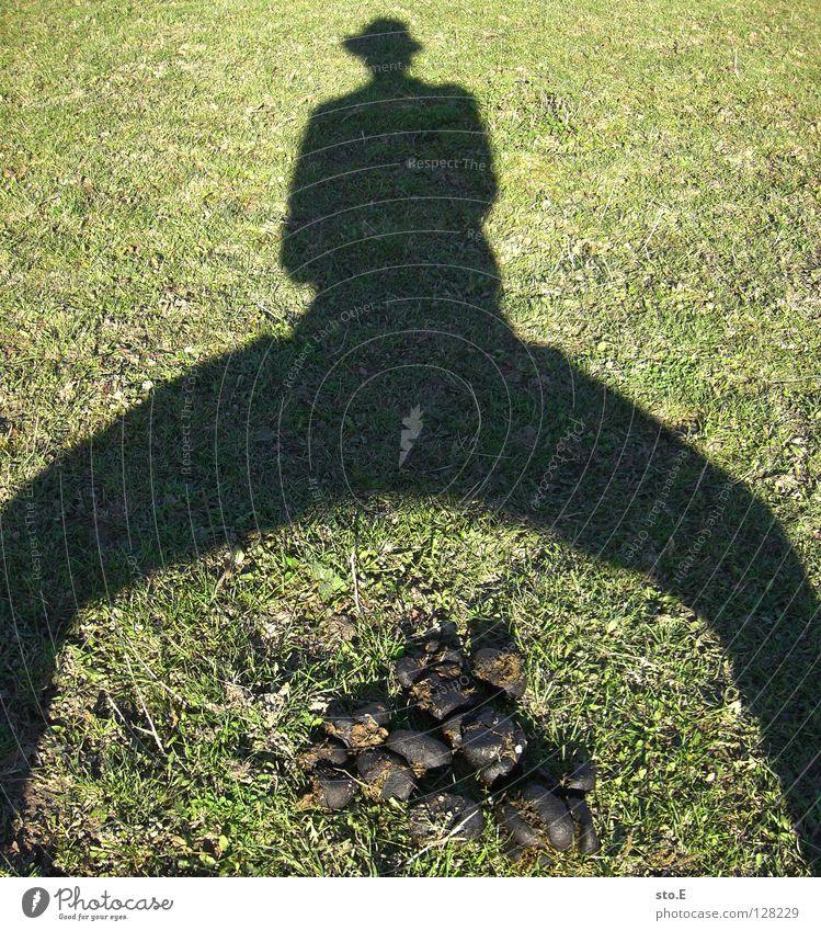 I'm fucking on it. Fellow Man Masculine Shadow Darken Meadow Heap Pattern Arrangement Cap Cowboy East Joy Summer Human being personal photo Guy Contrast Lawn