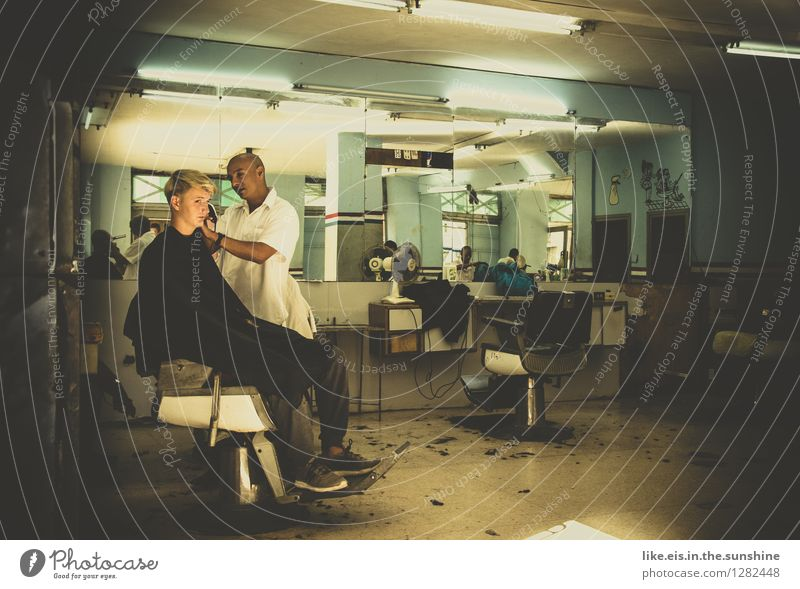 The other day in Cuba, at the hairdresser's. Lifestyle Personal hygiene Vacation & Travel Adventure Far-off places Work and employment Hairdresser Workplace
