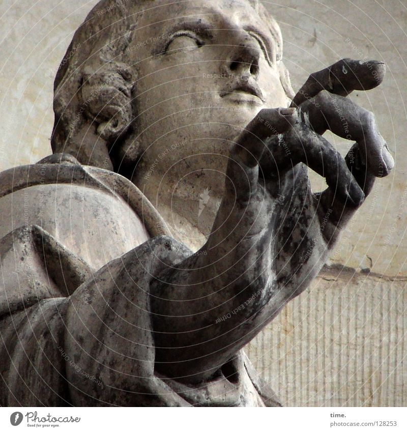 Man Old Face Stone Art Dirty Masculine Fingers Dresden Statue Monument Holy Landmark Redecorate Memory Indicate
