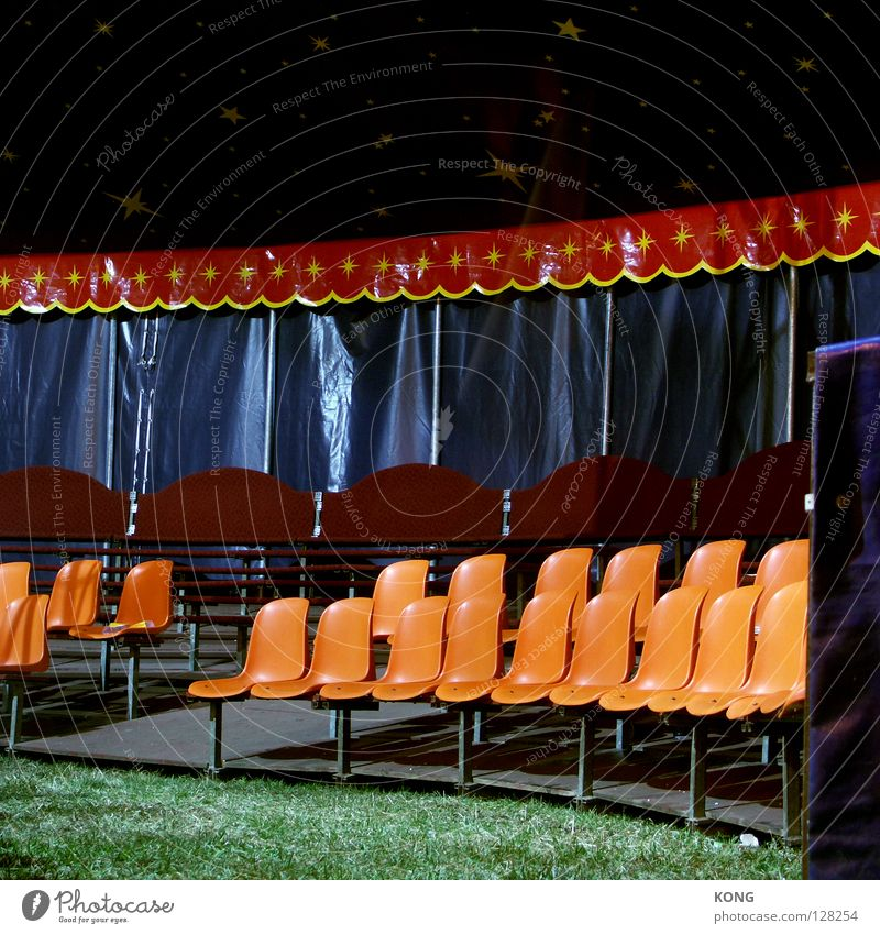 set Chair Seating Places Sit down Circus Audience Acrobatics Magic Circus ring Tent Shows Art Arts and crafts  Furniture Culture Row of seats take a seat