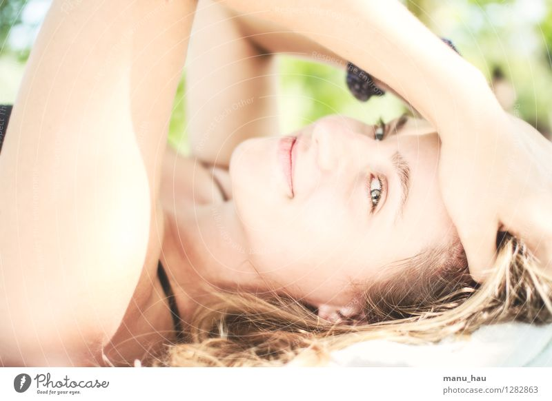 Human being Woman Vacation & Travel Youth (Young adults) Beautiful Summer Young woman Sun Relaxation Calm Joy 18 - 30 years Face Adults Eyes Life