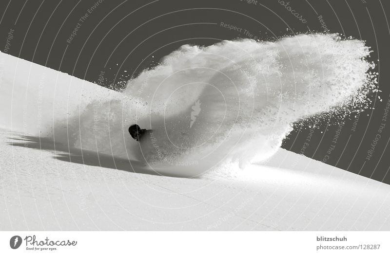 powder spray Deep snow Snowboarding Winter Spray Winter sports Meiringen Hasliberg Martin Rittmeyer Freedom Mountain powder line Line turn Curve Inject