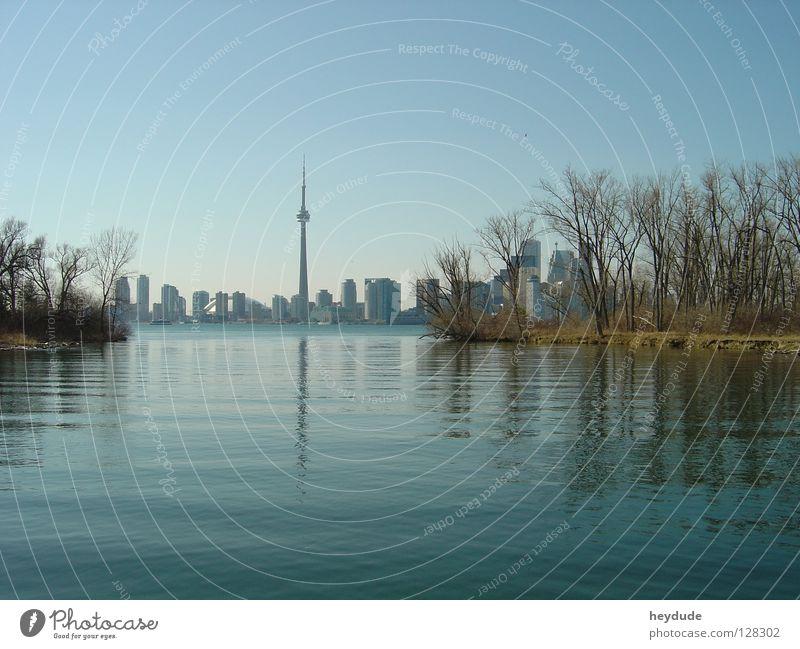 Toronto Skyline CN Tower Canada Ontario Toronto Iceland Lake Ontario