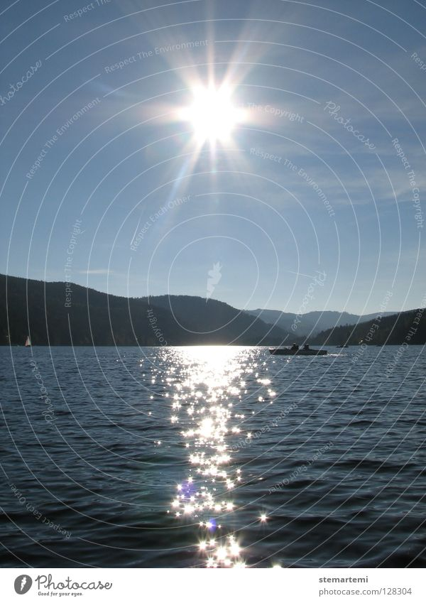 solar star Watercraft Vacation & Travel Relaxation Lake Sun Landscape Glittering