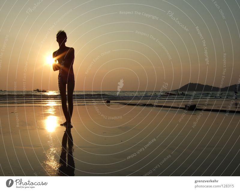 Man Water Sun Summer Beach Vacation & Travel Relaxation Warmth Sand Watercraft Coast Adults Island Romance Swimming & Bathing