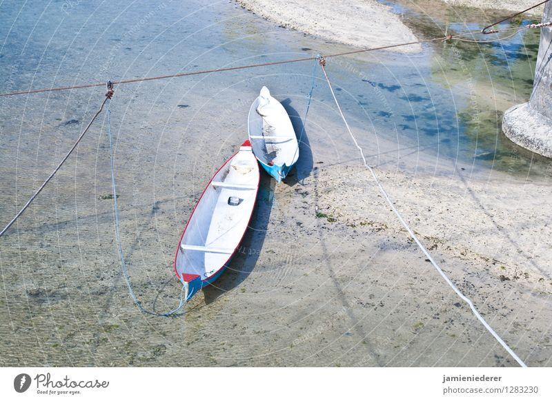 A Pair of Boats Water Summer Beautiful weather River bank Beach Bay Ocean Island nusa lembongan Fishing boat Anchor Rope Vacation & Travel Bright Serene Calm