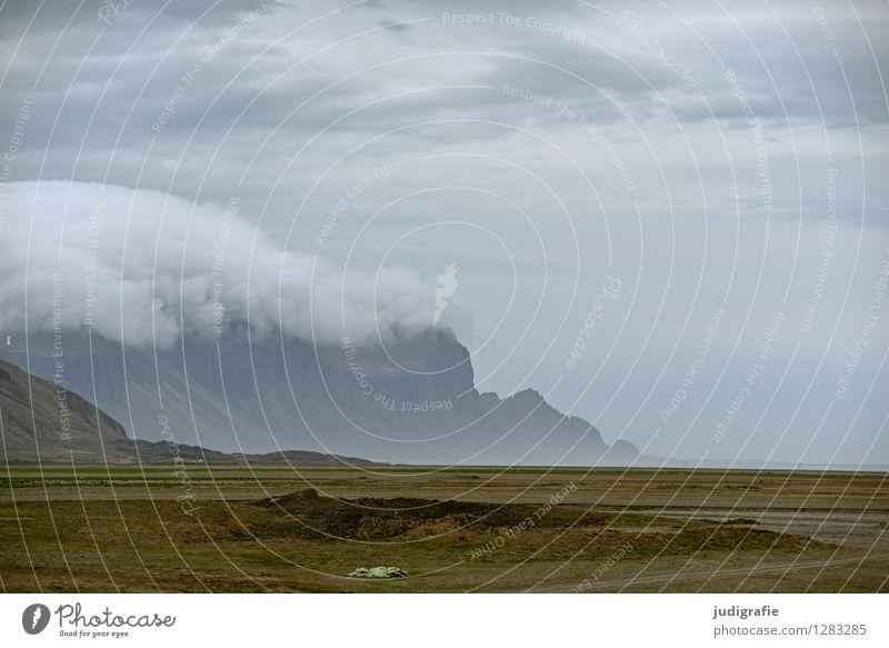 Iceland Environment Nature Landscape Sky Clouds Climate Weather Rock Mountain Coast Exceptional Fantastic Natural Wild Colour photo Subdued colour Exterior shot